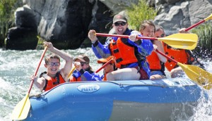 Family Rafting on the Deschutes River