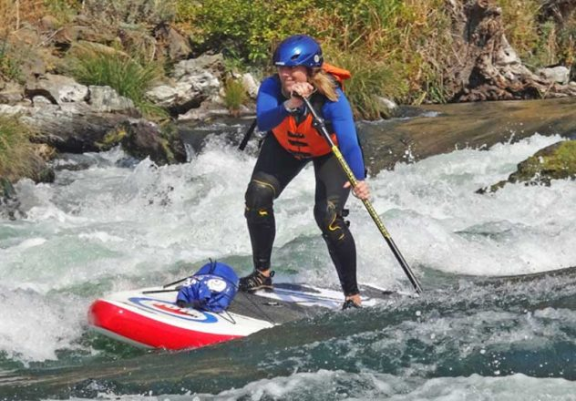 Stand-up paddle boarding on the Deschutes