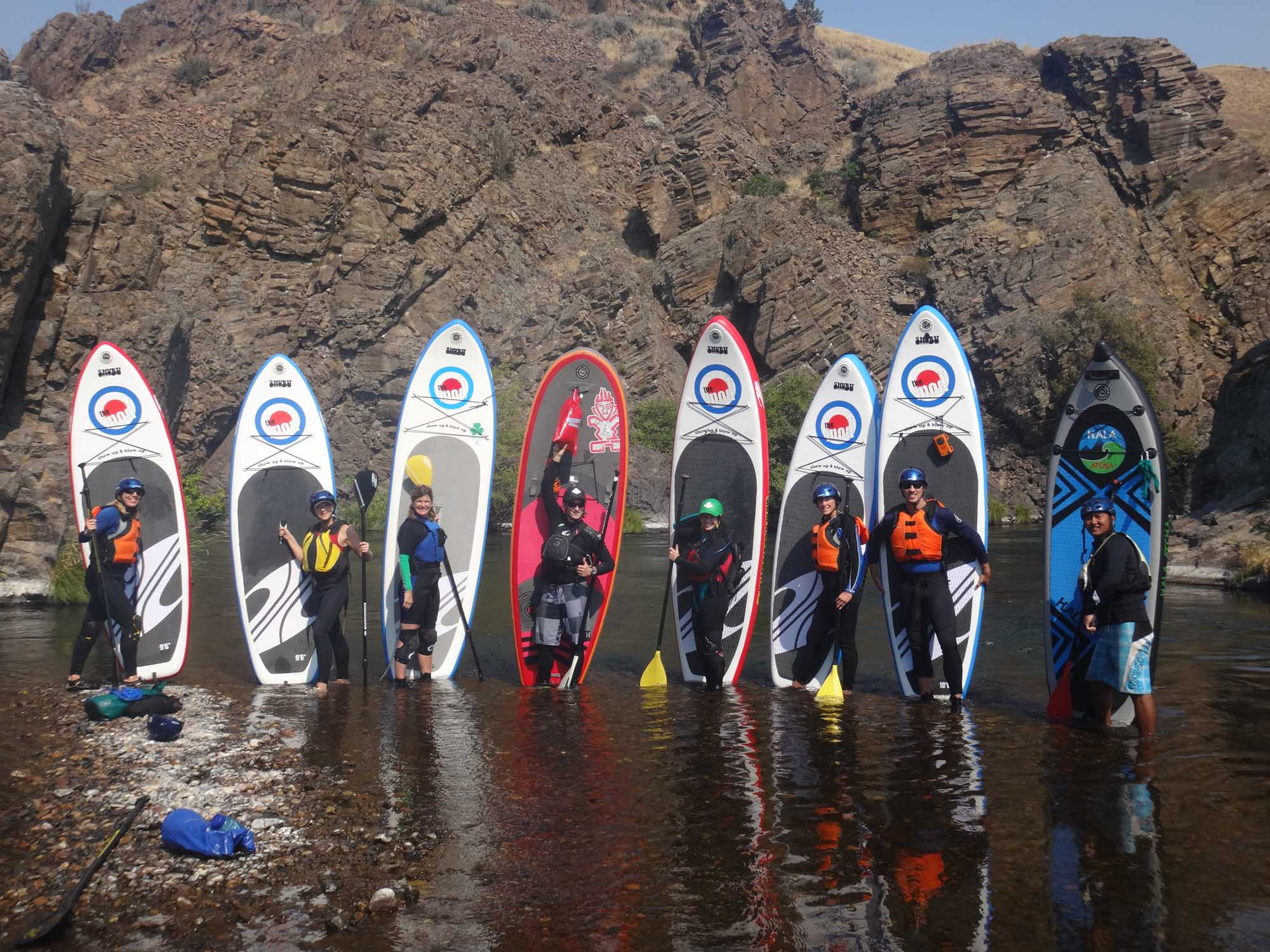 Stand up paddle boarding on the Deschutes River